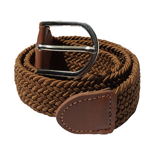 RASS Stretchable belt for woman(Brown)
