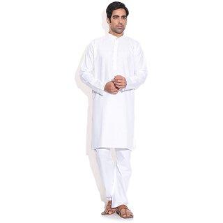 Prime Club Premium White Kurta  Pajama Set