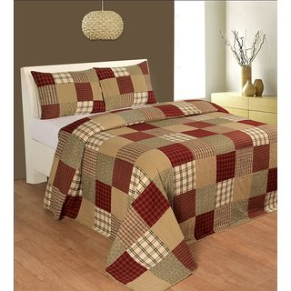 R & R Home Fashion's Block Cotton Double Quilt