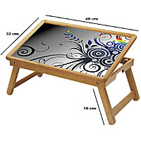Graffiti Multipurpose Foldable Wooden Study Table For Kids - Study 179