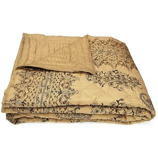 Shop Rajasthan 100 Cotton Jaipuri Lightweight Double Bed Quilt (Srl2003)