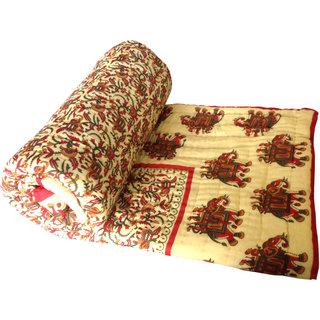 Shop Rajasthan 100 Cotton Jaipuri Lightweight Double Bed Quilt (Srl2165)