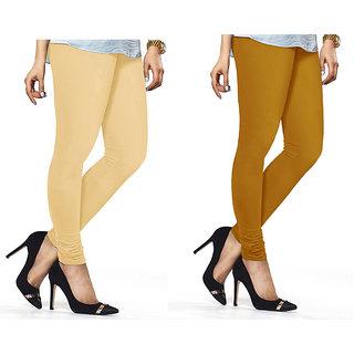 Combo Of Mustard  Skin Cotton Leggings