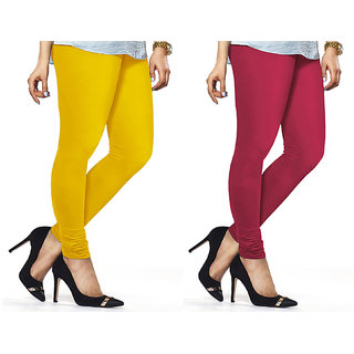 Combo Of Rani  Yellow Cotton Leggings