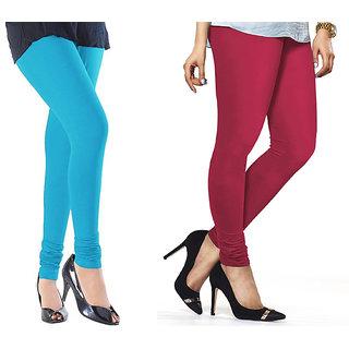 Combo Of Rani  Sky Blue Cotton Leggings