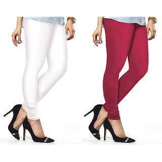 Combo Of Rani  White Cotton Leggings