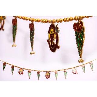 satya meenakari metal door hanging ( bandhanwar)