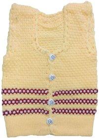 BebzCozzy Yellow Woolen Sleeveless Sweater