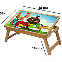 Angry Birds Multipurpose Foldable Wooden Study Table For Kids - Study 508