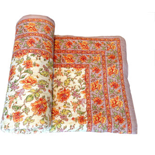 Shop Rajasthan 100 Cotton Jaipuri Lightweight Single Bed Quilt (Srm2068)