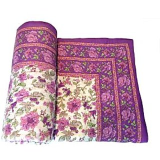 Shop Rajasthan 100 Cotton Jaipuri Lightweight Single Bed Quilt (Srm2069)