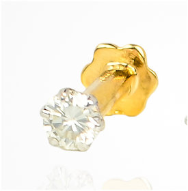 Anaira's Diamond Jewellery 14Kt BIS Hallmarked Diamond Nose Pin