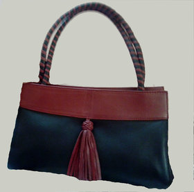 Ladies Designer Leather Hand Bag Black And Brown