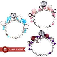 Caris Ladies Bracelet Analog Watches Set Of 3 - Women