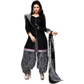 Drapes Beige Lace Dupion Silk Salwar Suit Material (Unstitched)