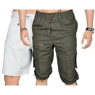 True Fashion Multicoloured Cargo Shorts Sacarccc035
