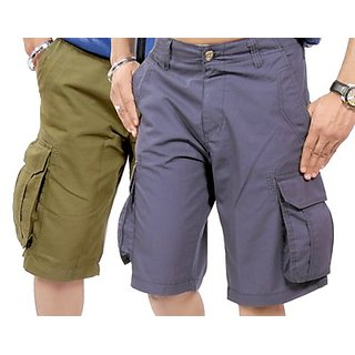 True Fashion Multicoloured Cargo Shorts Sacarccc066