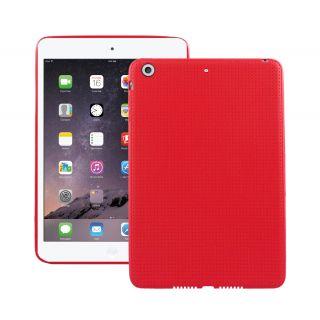 Premium Dotted Flexible Silicone Back Skin Case / Cover for Apple iPad Mini 1/ Apple iPad Mini 2/ Apple iPad Mini 3 - Red