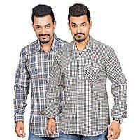 True Fashion Mens Multicolor Regular Fit Casual Shirt (Combo Of 2)