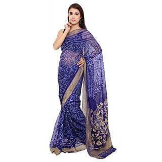 Buy 0 Degree Black Raw Silk Embroidered Saree With Blouse Online