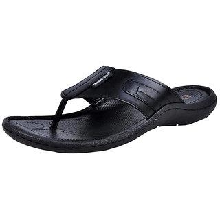 Franco Leone Mens Black Flip Flops