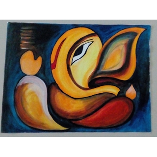 Acrylic Painting of Ganesha