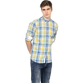 0e62d92213d Buy Monteil   Munero Checked Orange Linen Casual Shirt Online - Get 26% Off
