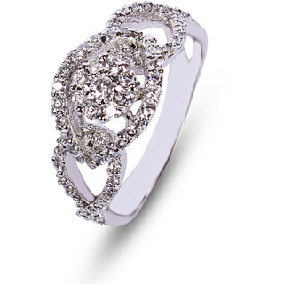 Zevrr Sterling Silver Ring made with SWAROCSKI ZIRCONIA (PZSR010274)