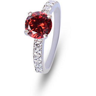 Zevrr Sterling Silver Ring made with SWAROCSKI ZIRCONIA (PZSR010396)