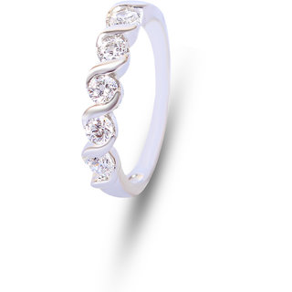 Zevrr Sterling Silver Ring made with SWAROCSKI ZIRCONIA (PZSR010429)