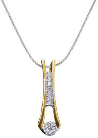 Vestern Vivian 18k Trendy Gold Earring and Pendant Set in 0.27cts