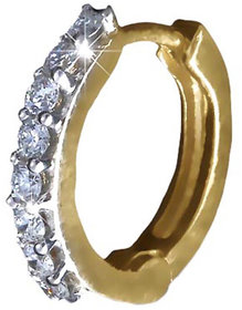 Vestern Vivian 18k Gold Huggie Earring with 16 Diamond in 0.15 cts