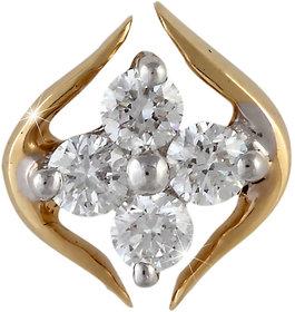 Vestern Vivian 18k Gold Stud Earring with 8 Diamond in 0.21 cts