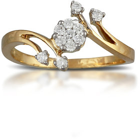 Vestern Vivian 18k Gold 11 Stone Diamond Ring in 0.22cts