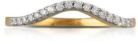 Vestern Vivian 18k Gold 17 Stone Diamond Ring in 0.12cts