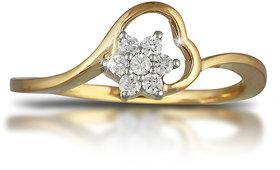 Vestern Vivian 18k Gold 7 Stone Diamond Ring in 0.14cts
