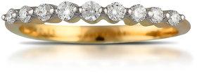 Vestern Vivian 18k Gold 9 Stone Diamond Ring in 0.21cts