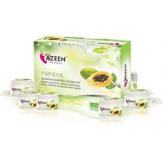 Azeen Herbal Papaya Blemish Control Facial Kit 105gm+10ml for men  women