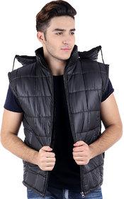 Christy World Black Bomber Jacket for Men