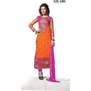 Raj Fashion Net + Georgette Salwar Suit Dupatta Material
