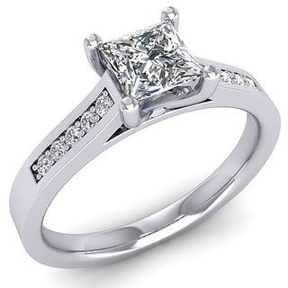 Icrjewels Brand New ICRSL27 Solatier Princess CZ Sterling Silver Ring For Woman