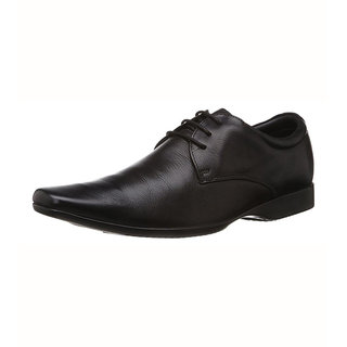 Franco Leone Black Formal Shoes