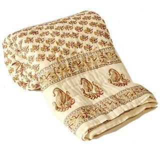 Marwal HandBlock FloralPrint Double Bed Jaipuri Razai