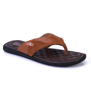 f6304b1333b8e Buy Franco Leone Mens Tan Flip Flops Online   ₹1595 from ShopClues