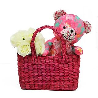 Gifts For Kids Cute Teddy & Basket