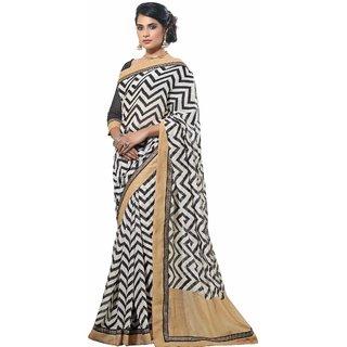 Florence Black Party Wear Silk Printed Bhagalpuri Saree (FL-10080)