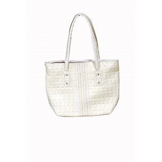Akash Ganga Cream Colour Beautiful HAND Bag (LHB27)