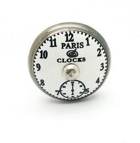 PARIS CLOCKS WHITE BASE CERAMIC KNOB (PACK OF 4)