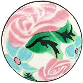 ENCHANTED ROSE PINK CERAMIC KNOB (PACK OF 4)