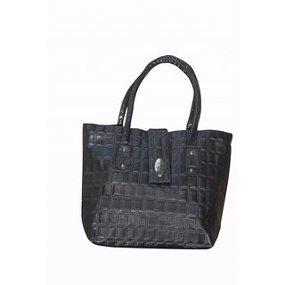 Akash Ganga Black Women Hand Bag (LHB60)
